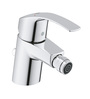 Grohe Eurosmart Silver Brass Bidet Faucet with PopUp Waste