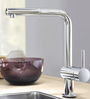 Grohe Minta Touch Silver Brass Kitchen Faucet
