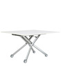 Groovy Expandable Coffee cum Dining Table in White Colour by Gravity