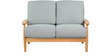 Guarulhos Two Seater Sofa in Grey Colour by CasaCraft