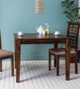 Morton Four Seater Dining Table in Provincial Teak Finish by Woodsworth