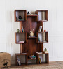 Fairmont Display Unit in Honey Oak Finish by Woodsworth