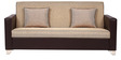 Harbour Three Seater Sofa in Brown with  Jute Colour by ARRA