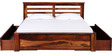 Westport King Bed with Storage in Provincial Teak Finish by Woodsworth