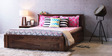 Westport Queen Bed with Storage in Provincial Teak Finish by Woodsworth