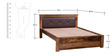 Oakville King Size Bed in Provincial Teak Finish by Woodsworth