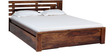 Woodinville King Bed with Storage in Provincial Teak Finish by Woodsworth