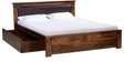 Oakville Queen Bed With Storage in Provincial Teak Finish by Woodsworth