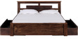 Hudson Queen Bed With Storage in Provincial Teak Finish by Woodsworth