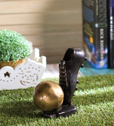 Handecor Multicolour Brass Decorative Tableware Soccer Ball Shoe Showpiece