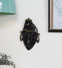 Handecor Black Brass Tribal Man Mask