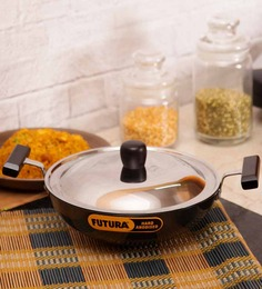 Hawkins Futura Deep Frying Pan With Stainless Steel Lid - 1500 ML