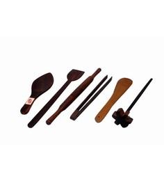 Hazel Wood Roti Roller - Set of 6