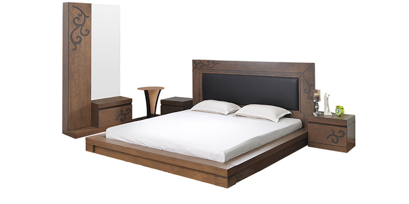 used bedroom furniture harvest size bedroom set in brown colour by home by 13700