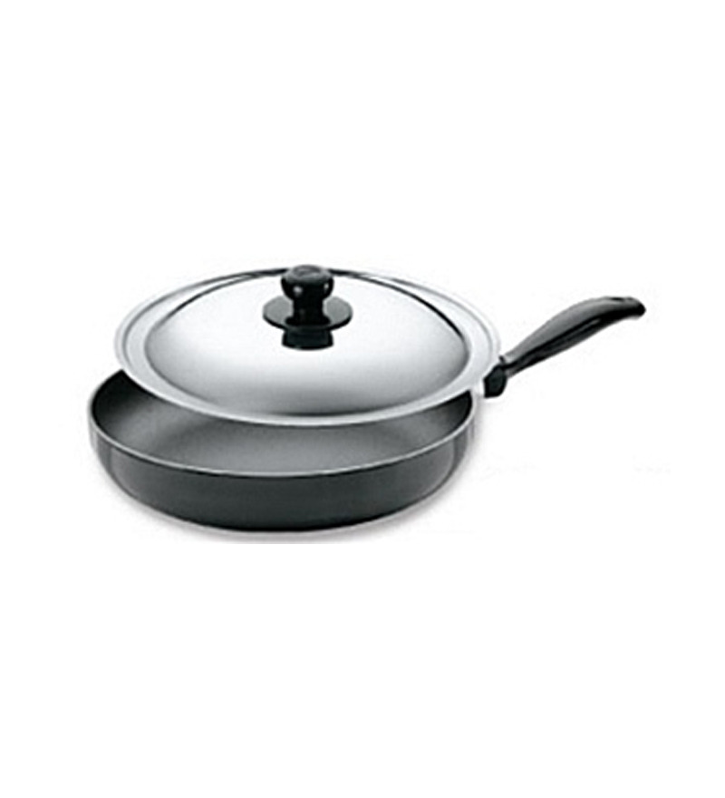 Hawkins Futura Hard Anodized Non Stick Frying Pan with Steel Lid  available at Pepperfry for Rs.1189