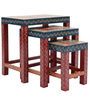 Hand Crafted Rajasthani Nesting Set of Tables by VarEesha