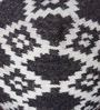 Hand Made Charcoal & Ivory Wool Novona Pouffe by Rugs2Clear