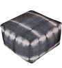 Hand Made Charcoal Wool Ronaldo Pouffe by Rugs2Clear