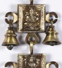 Handecor Brown Brass Ganesh Laxmi Saraswati Bronze Hanging Bell