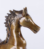 Banks Horse Showpiece in Gold by Bohemiana