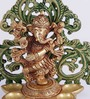 Bhuvanpati Dancing Ganesha Diya in Multicolor by Mudramark