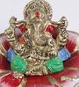 Manomay Ganesh Idol in Multicolor by Mudramark