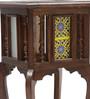 Handmade Teak Wood Tiled End Table by VarEesha