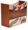 Handpainted Wooden Magazine Holder by VarEesha