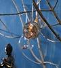 Importwala Brown Hanging Glass Ball Small Antique Tea Light Holder