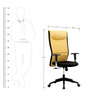Harmony Series B High Back Office Chair in Yellow & Black colour by BlueBell Ergonomics