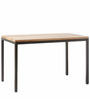 Harry Six Seater Dining Table in Brown & Black Colour by Asian Arts