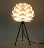 Sammie Table Tripod Lamp in White by Bohemiana