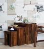 Olney Sheesham Wood Set of Tables in Provincial Teak Finish by Woodsworth
