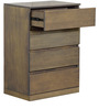 Emilio Chest of Four Drawers in Belgian Oak Finish by CasaCraft
