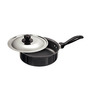 Hawkins Futura Non-Stick Hard Anodized 2 L Curry Pan with Steel Lid