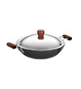 Hawkins Futura Hard Anodized 3.75 L Frying Pan with Steel Lid