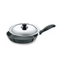 Hawkins Futura Hard Anodized Non Stick Frying Pan with Steel Lid