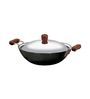 Hawkins Stainless Steel 2.5 L Futura Hard Anodised Deep Frypan with Short Handles