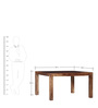 Hays Eight Seater Dining Set in Provincial Teak Finish by Woodsworth