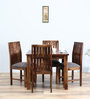 Hays Four Seater Dining Set in Provincial Teak Finish by Woodsworth