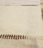 HDP Beige & Brown Wool 80 x 56 Inch Hand Woven Patchwork Area Rug