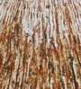 HDP Beige & White Recycled Silk 80 x 56 Inch Hand Woven Flat Weave Area Rug