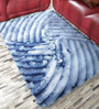 HDP Blue Polyester 69 x 49 Inch Carpet