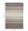 HDP Brown & White Wool 80 x 56 Inch Hand Woven Flat Weave Area Rug