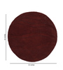 HDP Brown Wool 32 Inch Hand Carved Tufted Round Carpet