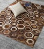 HDP Cola Tiger Leather 80 x 56 Inch Hand Made Carpet
