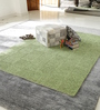 HDP Green Cotton 80 x 56 Inch Indian Hand Woven Carpet