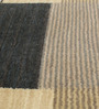 HDP Grey & Beige Wool 80 x 56 Inch Hand Woven Loom Knotted Carpet