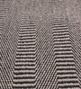 HDP Grey & Black Cotton 92 x 64 Inch Hand Woven Flat Weave Area Rug