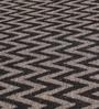 HDP Grey & Black Wool 80 x 56 Inch Hand Woven Flat Weave Area Rug